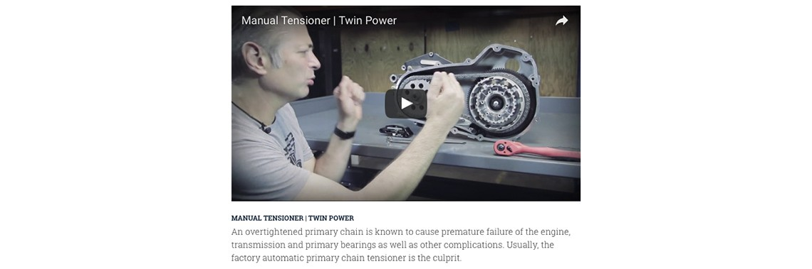 Twin Power Shows You How to Install Their Tension Reliever Manual Primary Chain Adjuster