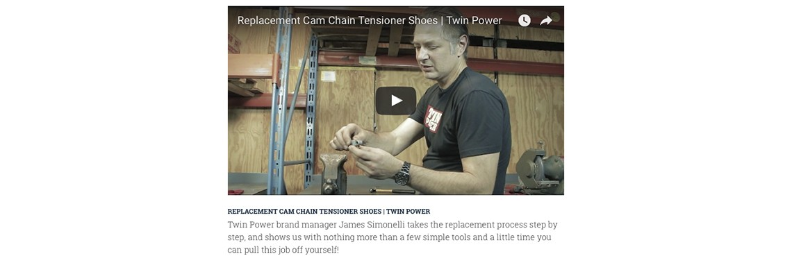 Install Cam Chain Replacement Tensioner Shoes with a Little Help from Twin Power